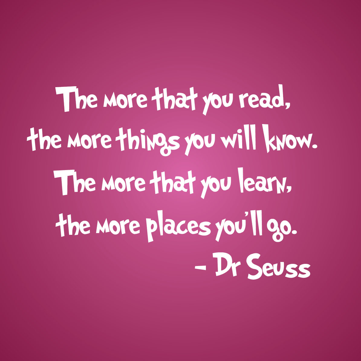 Dr Seuss Love Quote The More That You Readdrseuss Quote Wall Decal Nursery 1211