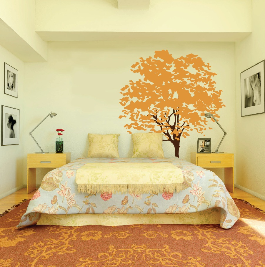 Large Wall Nursery Tree Decal Olive Leaves #1117 - InnovativeStencils