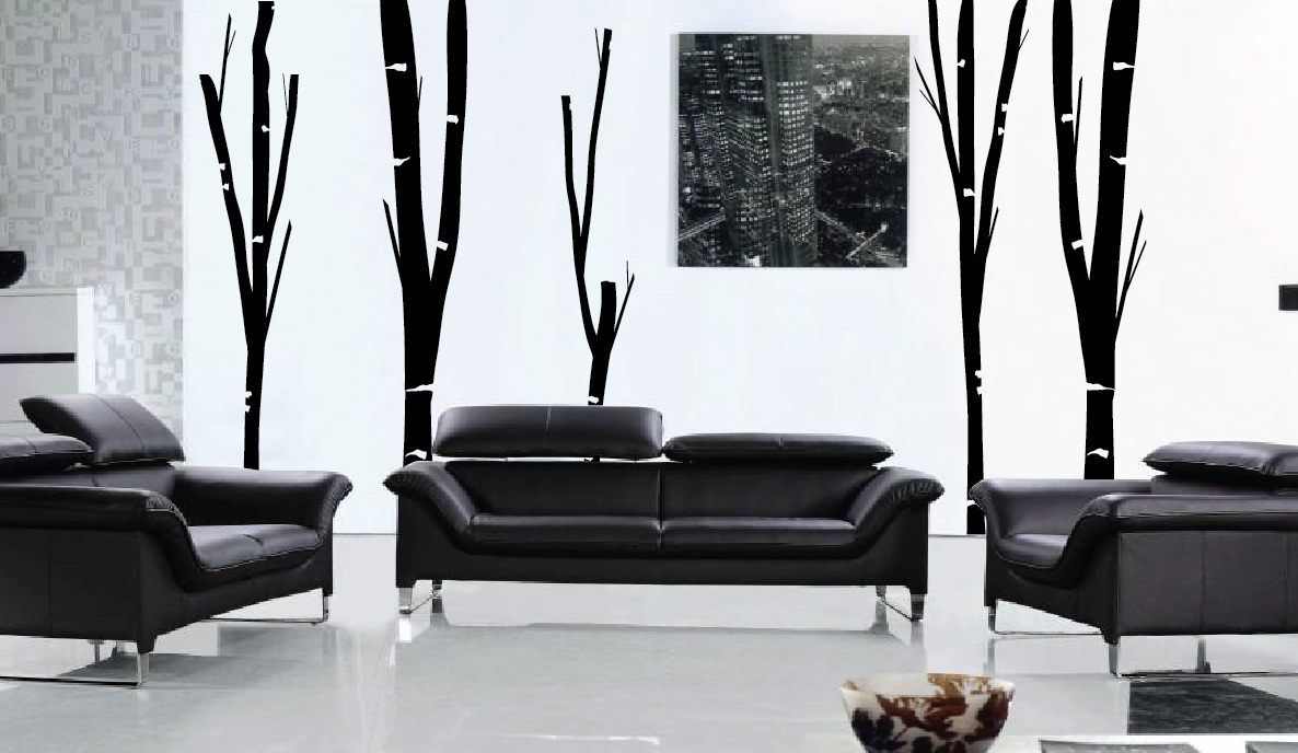 Black Birch Tree Wall Decal 1154