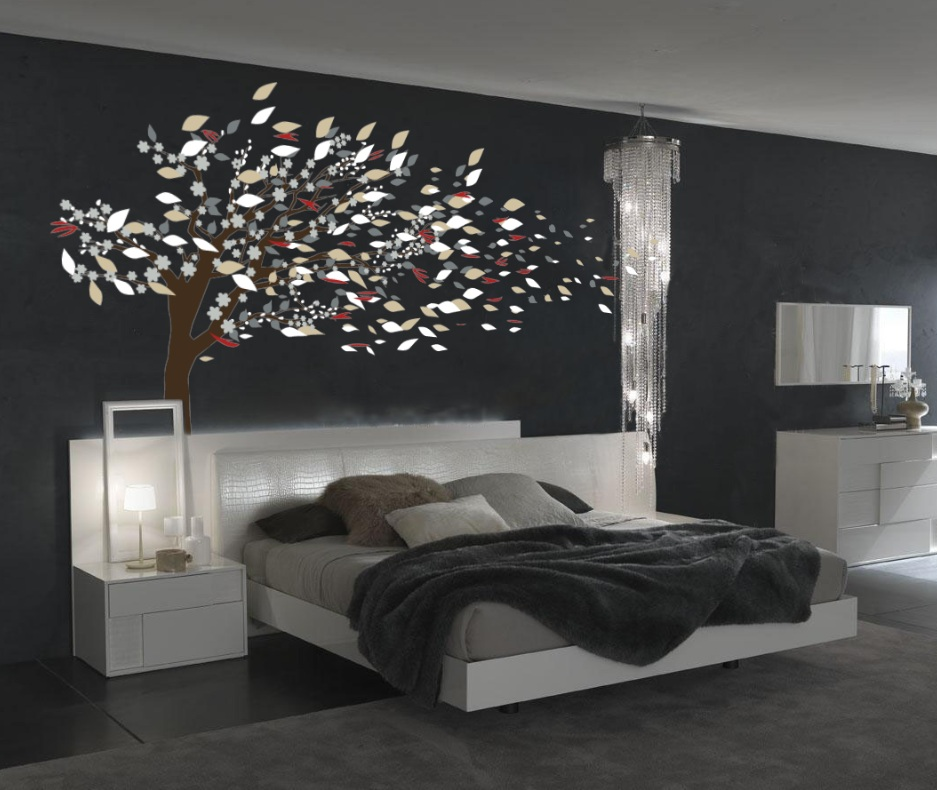 Blowing Tree Blossom Wall Decal 1181