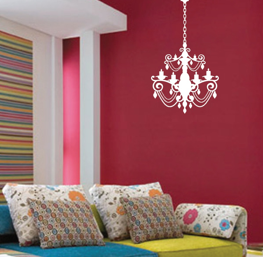 Chandelier wall decal with extra chain 1155 innovativestencils chandelier vinyl wall decal 1155g arubaitofo Gallery