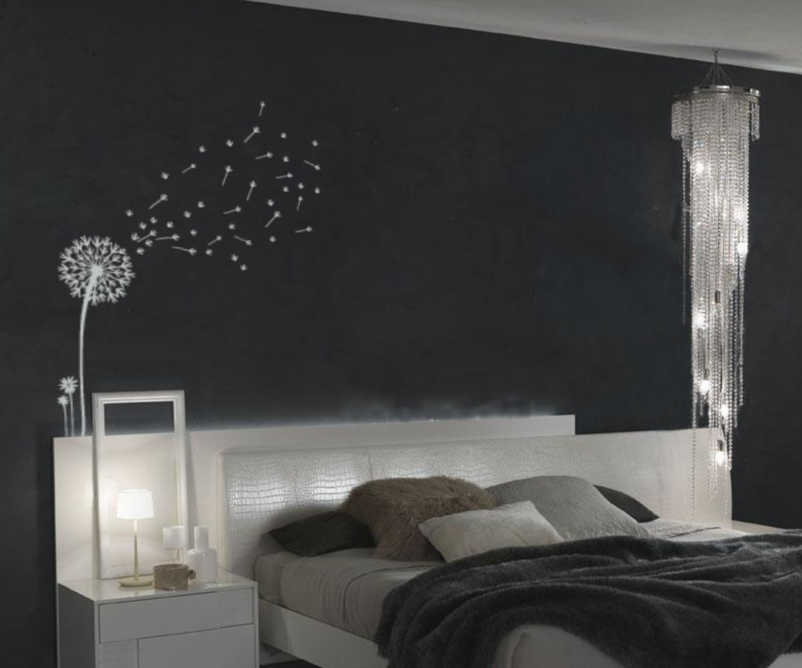 Dandelion and seeds blowing in the wind wall decal 1156 dandelion blowing in the wind vinyl wall decal amipublicfo Images