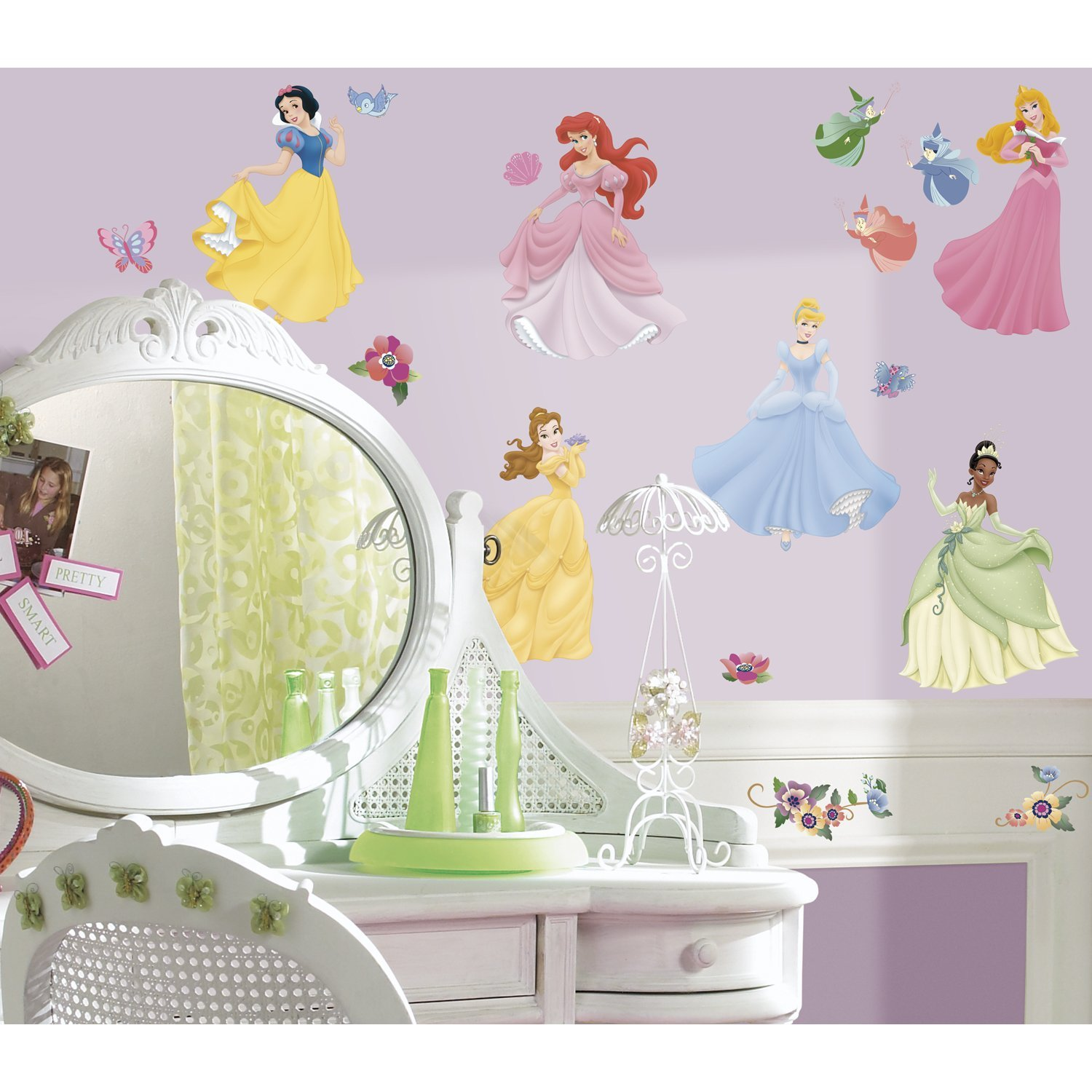 Disney princess peel stick wall decals with gems disney princess wall decalsg amipublicfo Gallery