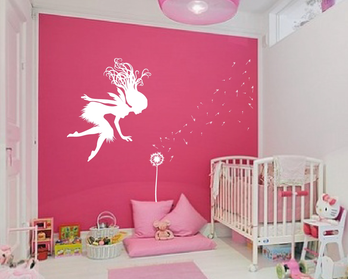 Fairy dandelion wand wall decal 1146 innovativestencils fairy wall decal crib room cartoon tale dandelion amipublicfo Images