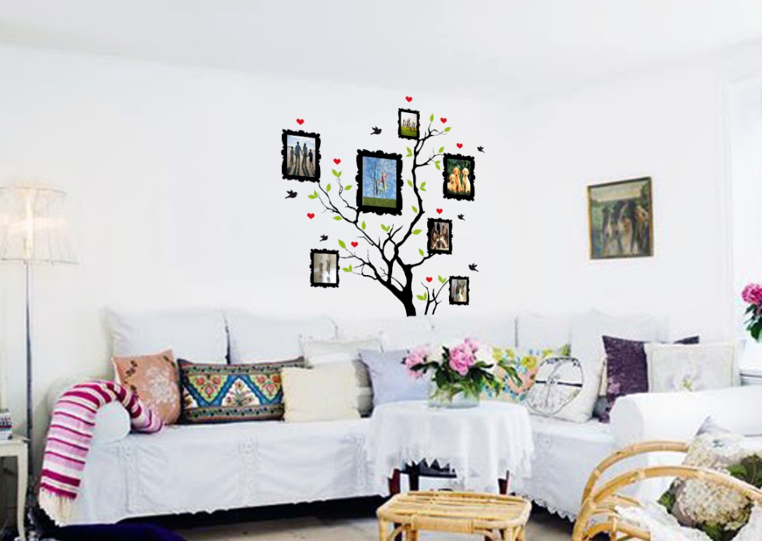 Family picture tree living room wall decal 1163 jpg
