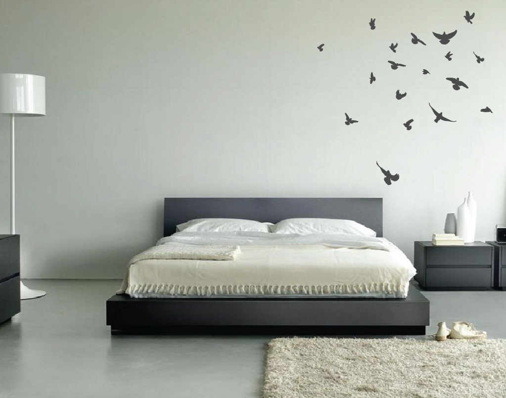 Wall Bedroom Flock Of Birds Wall Decal 1169 Innovativestencils