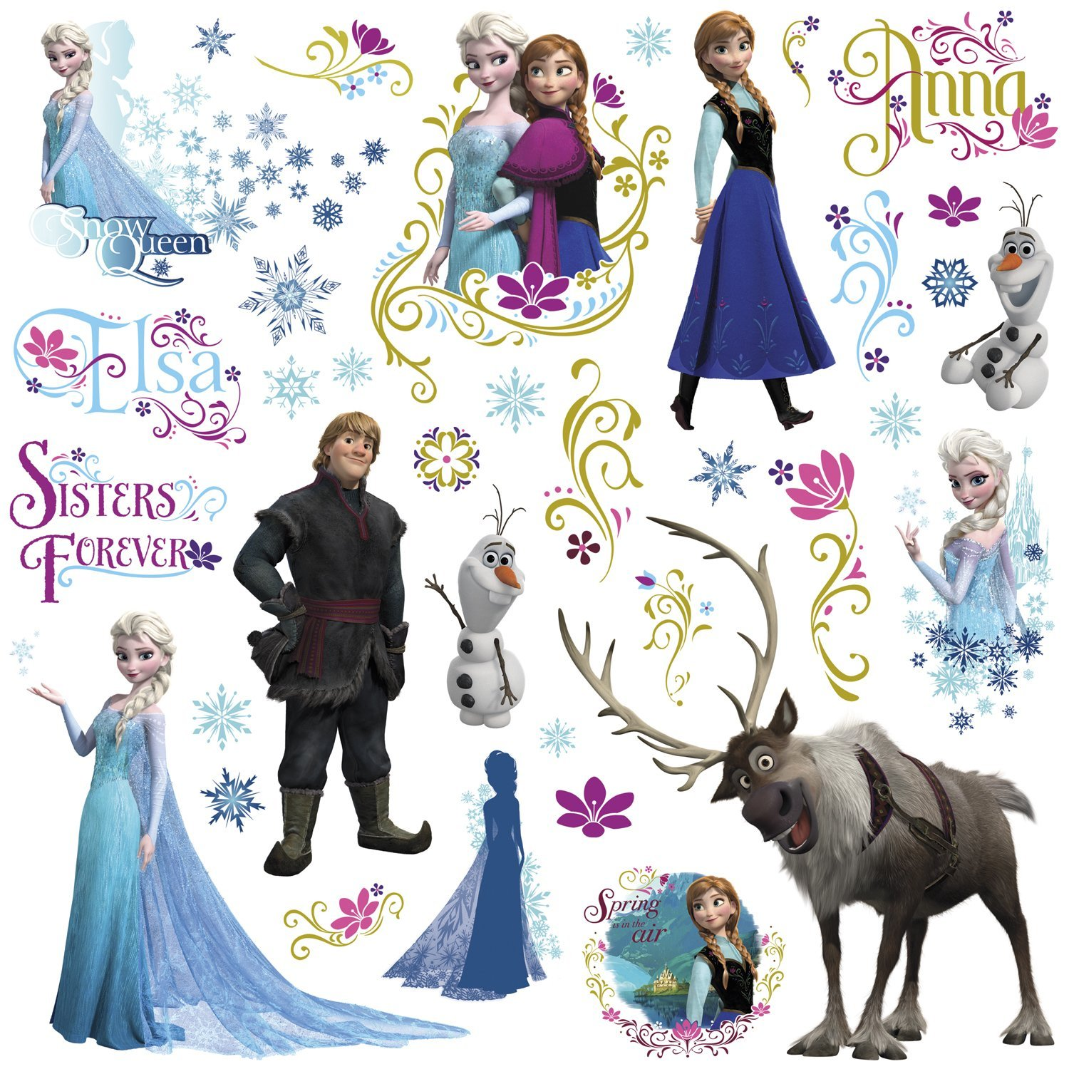 Frozen peel and stick wall decals innovativestencils frozen wall decals movie layoutg amipublicfo Gallery