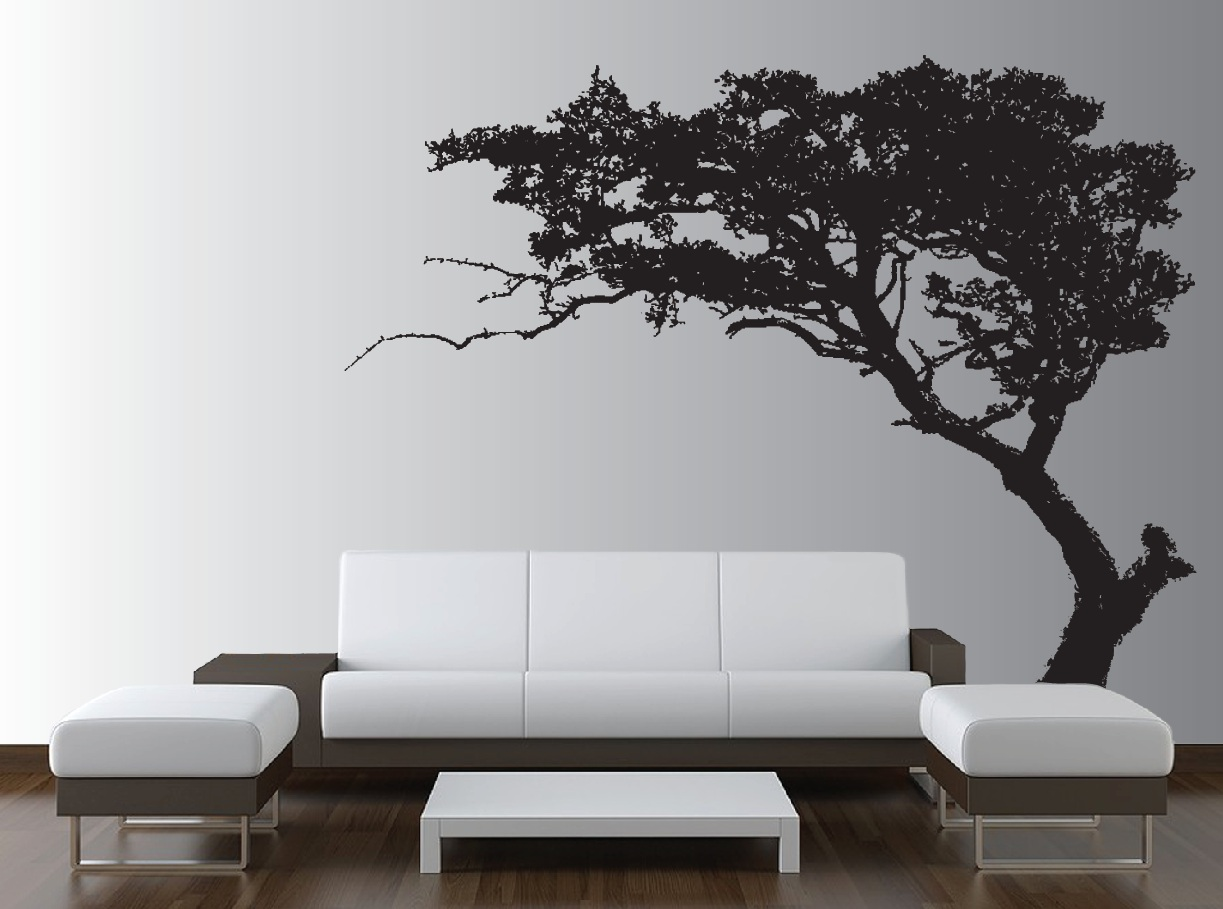Large wall tree decal forest decor vinyl sticker highly detailed large tree wall decal living room decor 1130 amipublicfo Choice Image