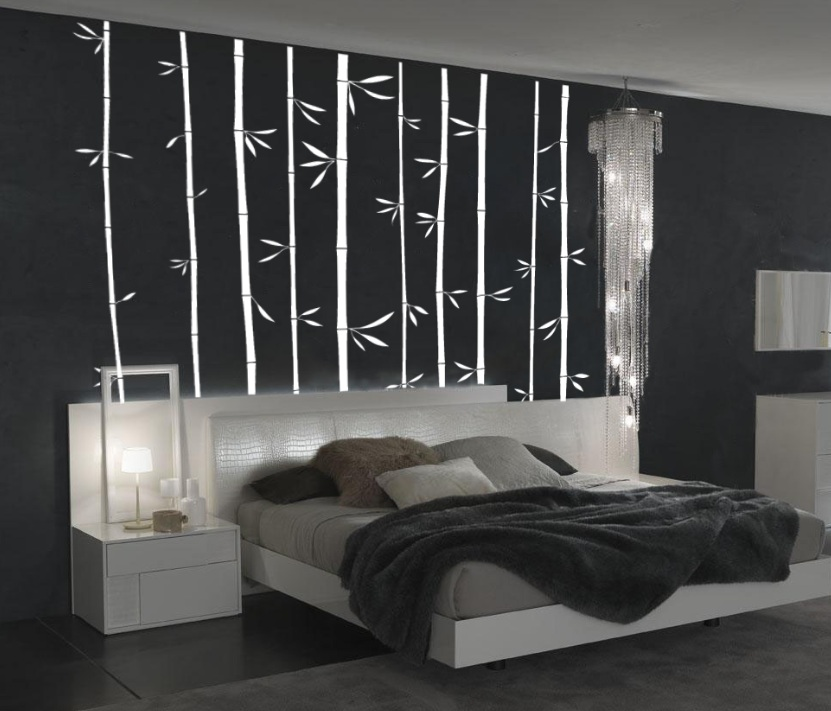 Large Wall Bamboo Decal Bedroom 1129