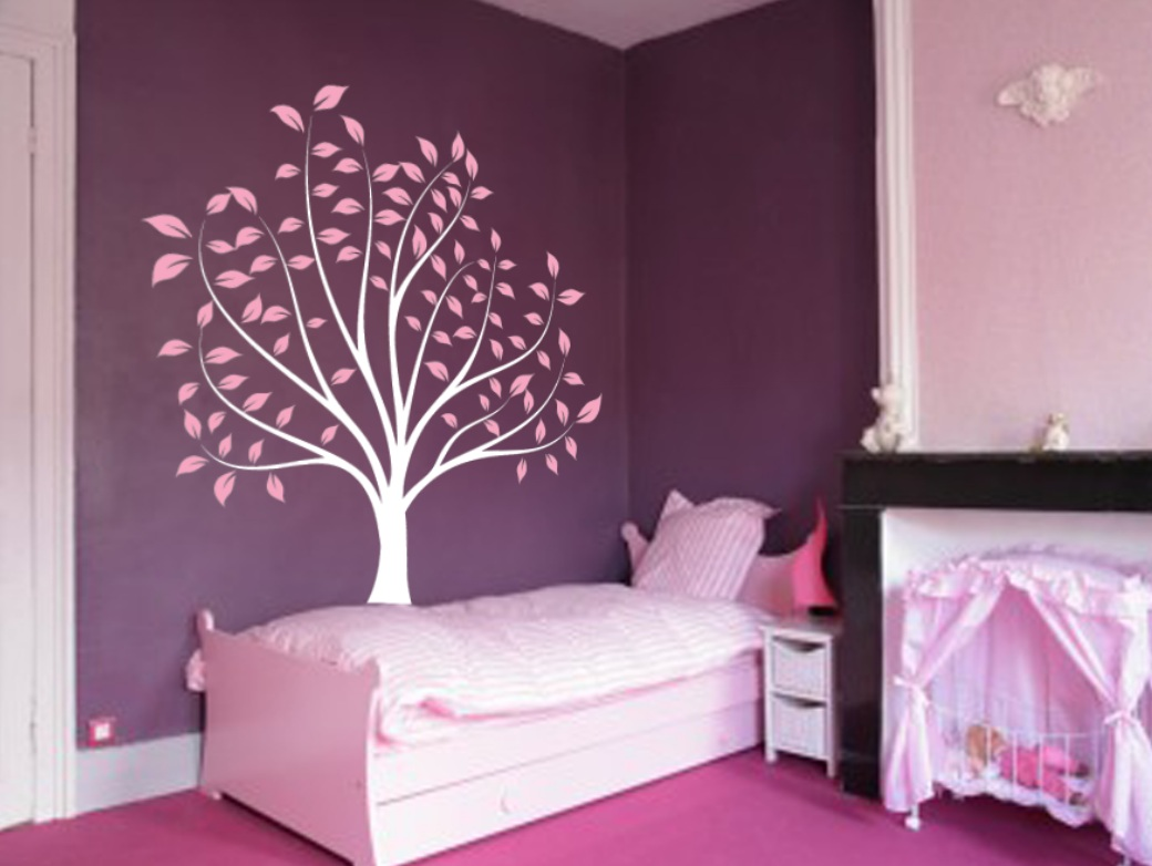 Nursery tree large wall forest kids decal branches and leaves large wall nursery tree wall decor 1135g amipublicfo Images