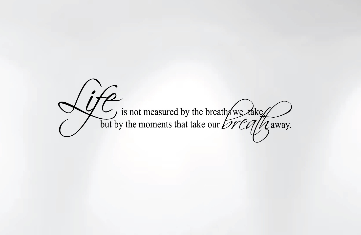 Captivating Life Moments Wall Quote Decal 1236 Black