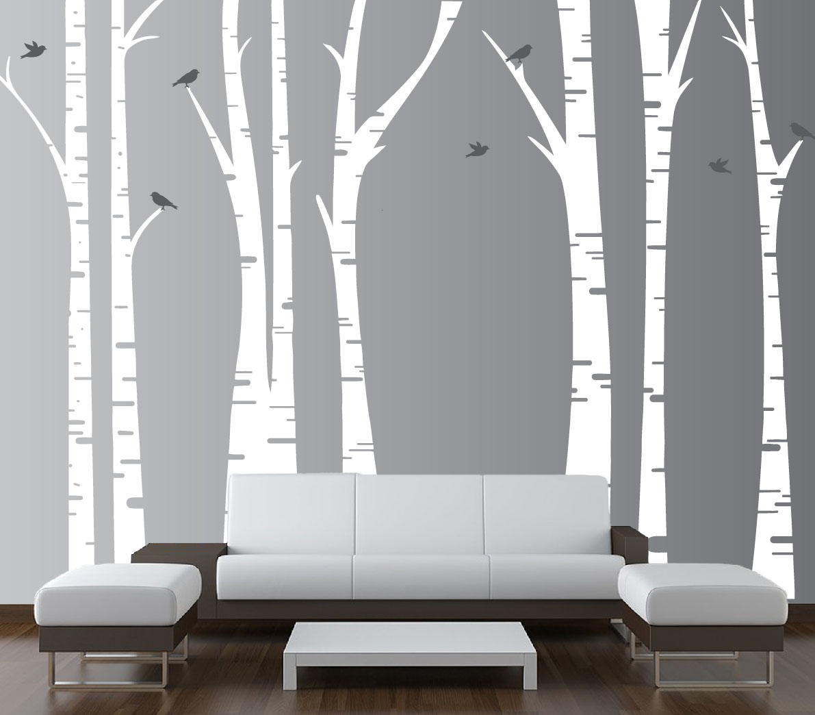 Living Room Tree Wall Decals Birds