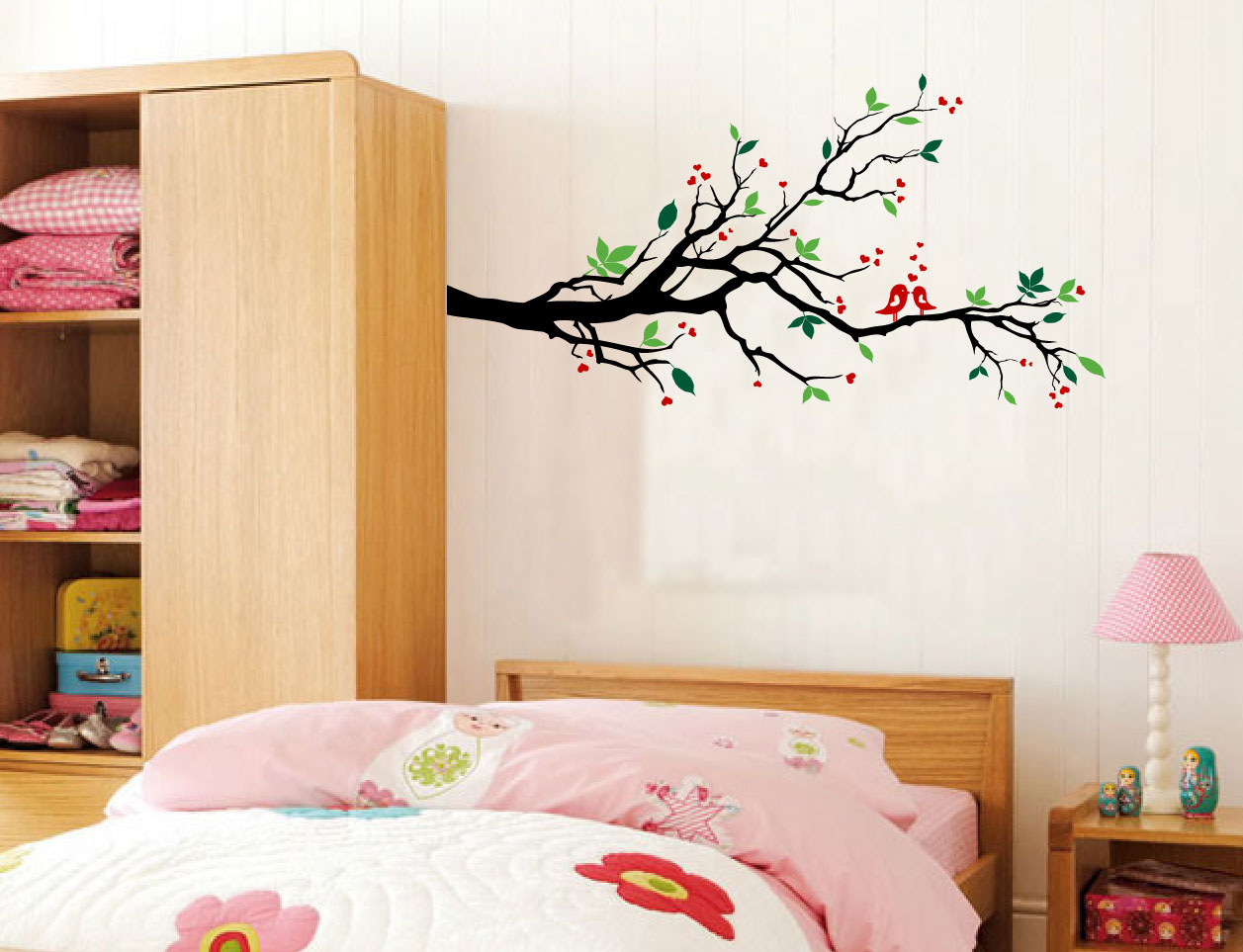 Tree branches wall decal love birds vinyl sticker nursery leaves love birds branch tree wall decalg amipublicfo Images