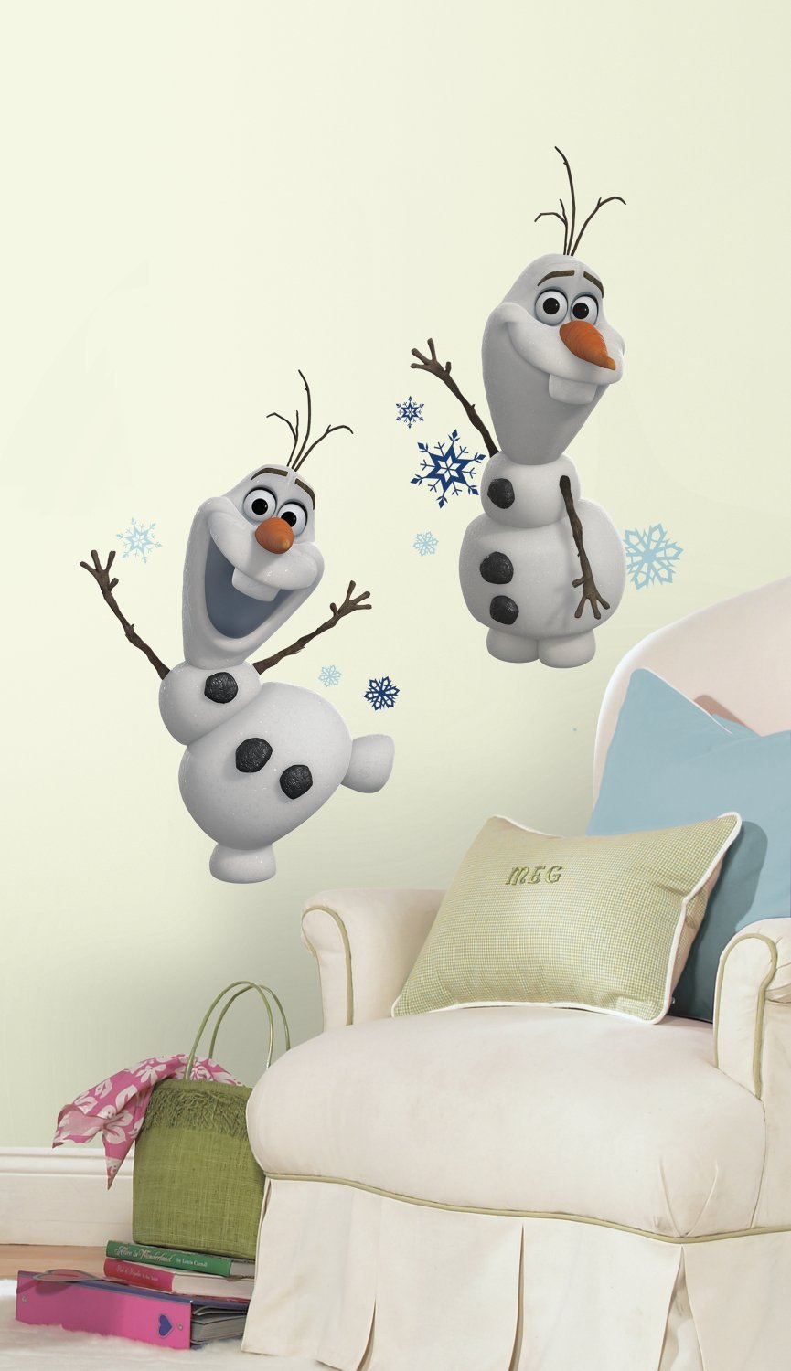 Marvelous Olaf The Snow Man Wall Decals