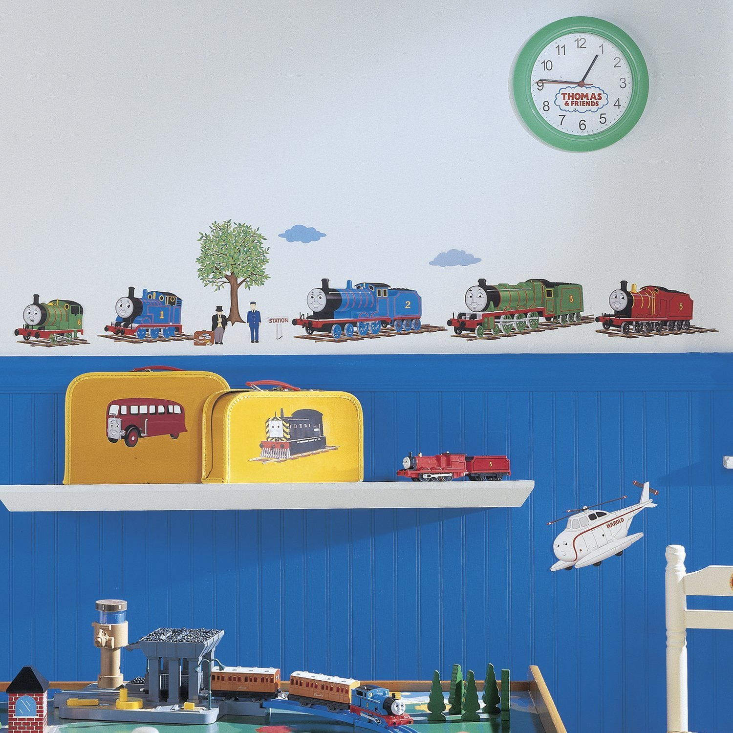 thomas the tank engine and friends peel and stick wall. Black Bedroom Furniture Sets. Home Design Ideas