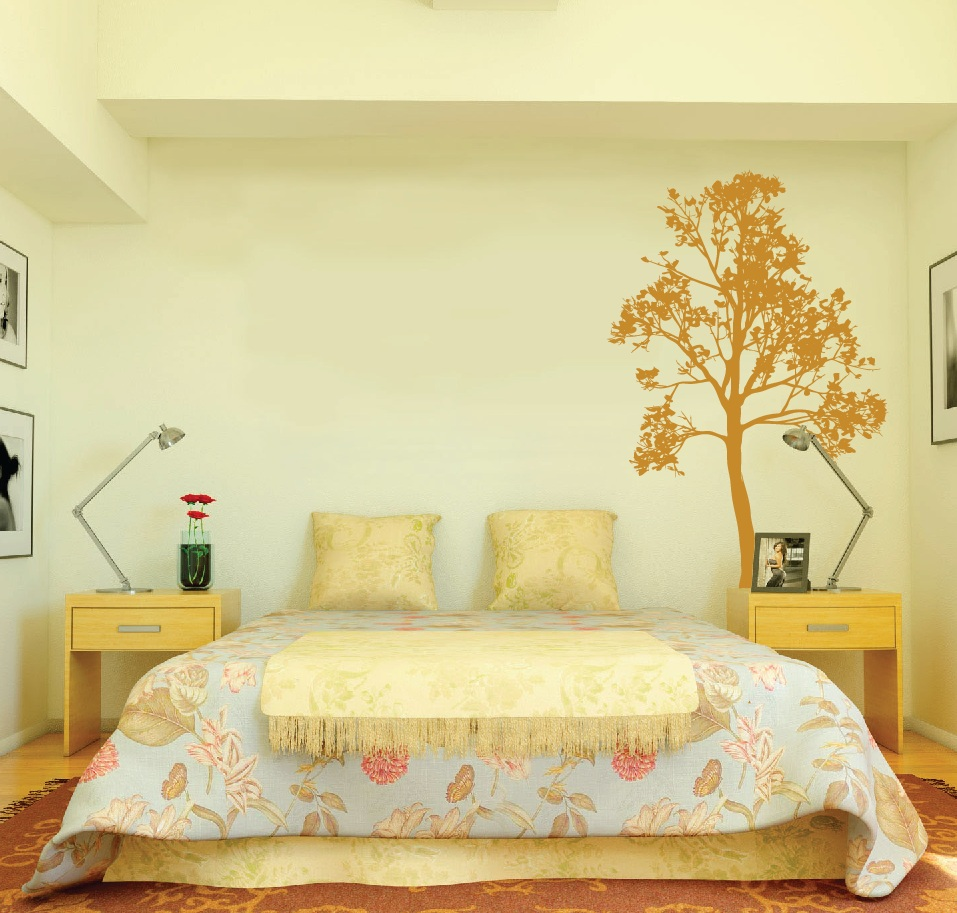 Large Wall Simple Spring Tree Decal Forest Decor Vinyl Sticker ...