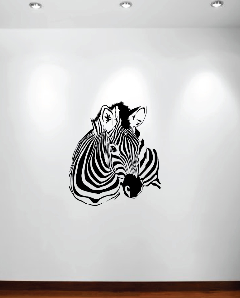 Zebra Animal Wall Decal Kids Room 1149