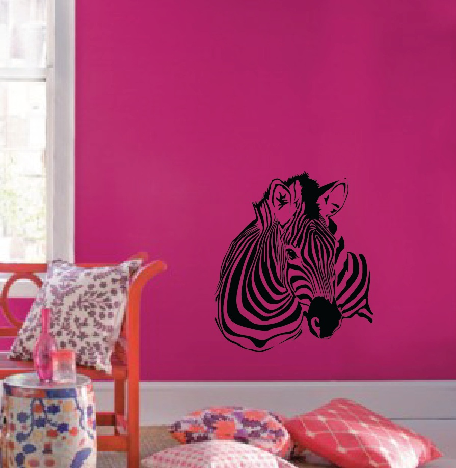 Large Wall Zebra Pattern Nursery Girls Room Decor Decal Removable - Zebra stripe wall decals