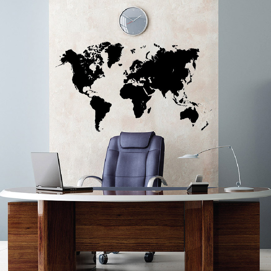 World map earth wall decal sticker atlas globe art 1248 zoomg gumiabroncs Choice Image
