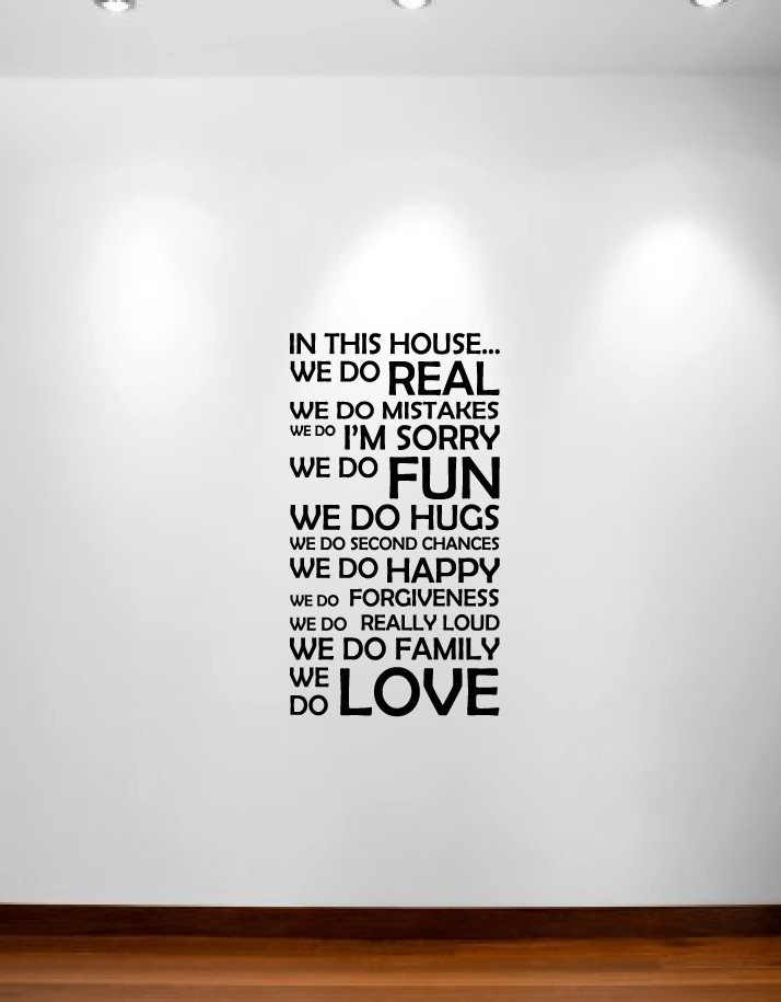 In This House We Do Wall Decal Sticker Quote #1126 ...
