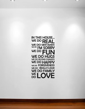 In This House We Do Wall Decal Sticker Quote #1126