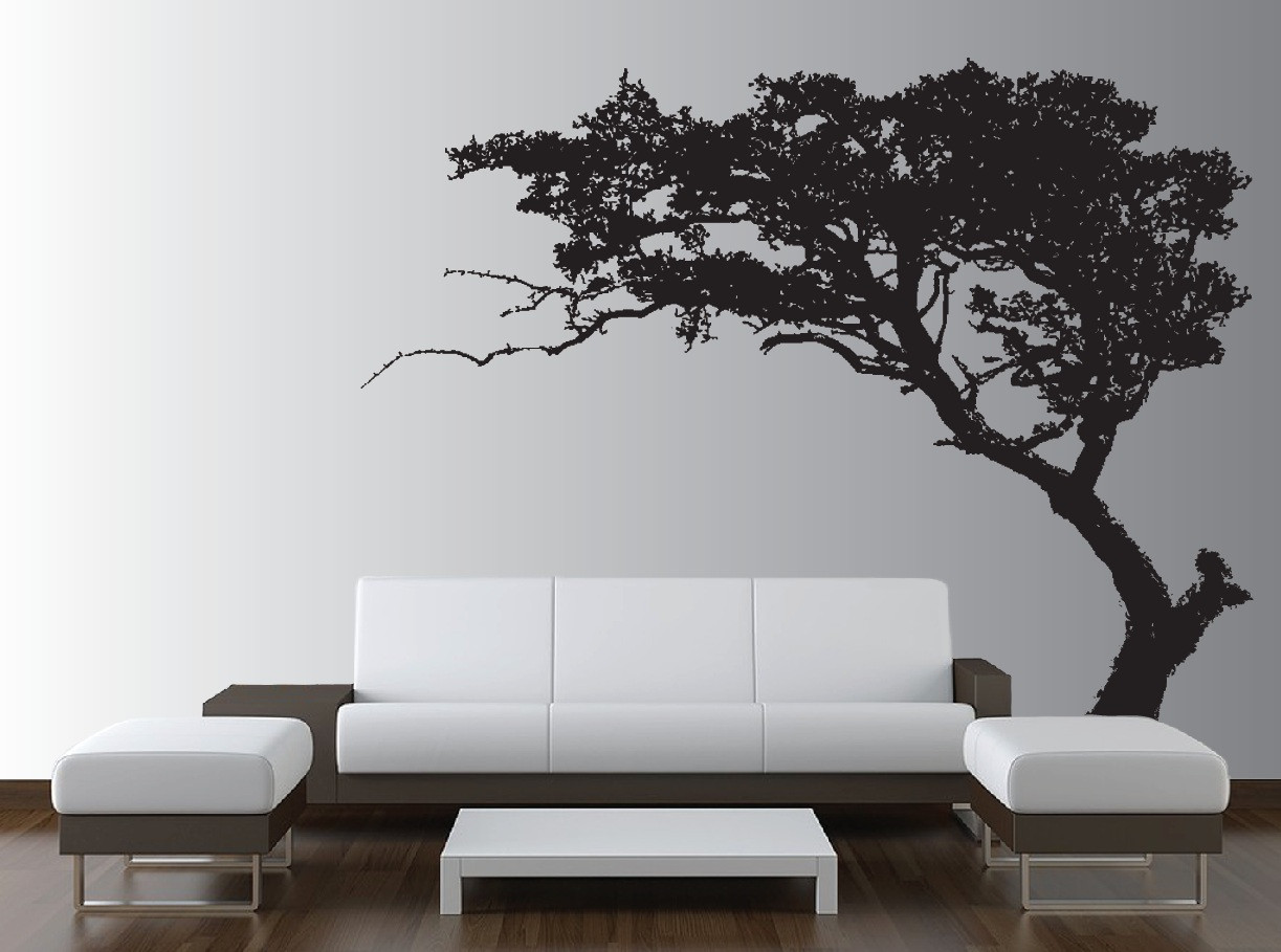 Tree Wall Decals For Living Room : Large Wall Tree Decal Forest Decor Vinyl Sticker Highly ...