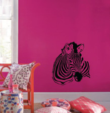 Large Wall Zebra Pattern Nursery Girls Room Decor Decal Removable  #1149