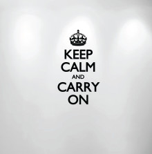 Keep Calm and Carry On Wall Decal #1162