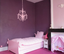 Chandelier Wall Decal with extra Chain #1155