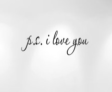 p.s. i love you wall decal quote