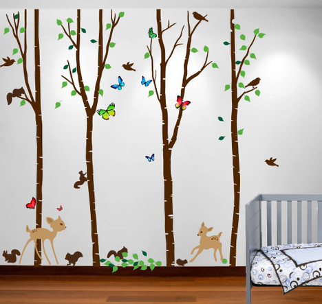 Wall decals birds high resolution photographs