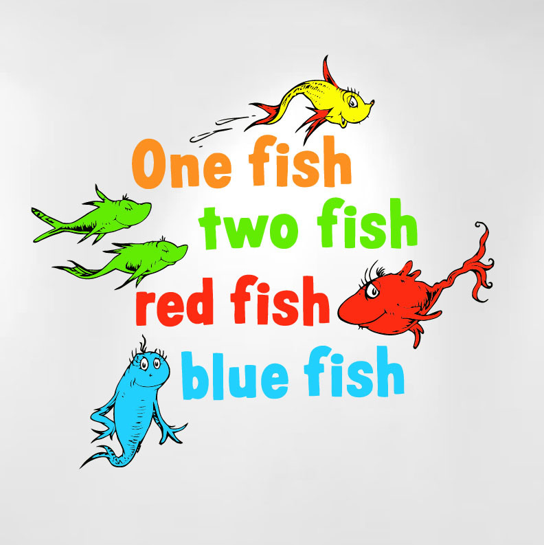 One fish two fish red fish blue fish by dr seuss like for Red fish blue fish dr seuss