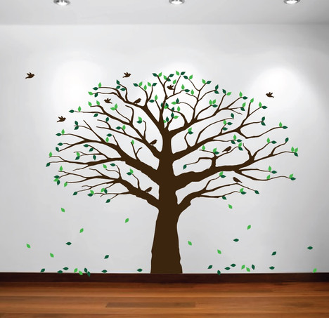Superb Family Tree Decal