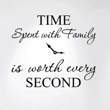 Time Spent with Family Is Worth Every Second Home Wall Decal Sticker Clock #1249