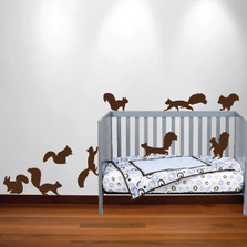 Squirrel Wall Decal Nursery Sticker Set #1250