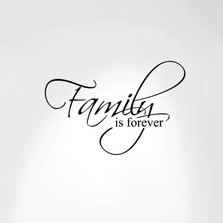 Family Is Forever Vinyl Wall Decal Art Saying Home Decor Sticker #1225