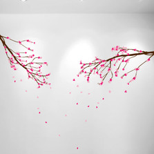 Large Wall Nursery Tree Branch Baby Decal Cherry Blossom Flowers #1281