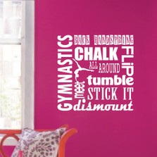 Gymnastics Sport Girl Olympics Wall Decal Teen Quote #1305
