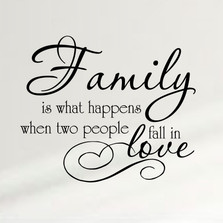 Family Is What Happens When Two People Fall In Love Wall Decal #1334
