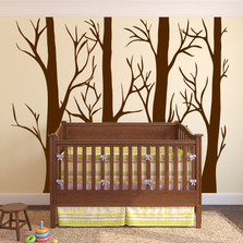 Large Wall Vinyl Tree Forest Decal Birch Aspen Removable #1310