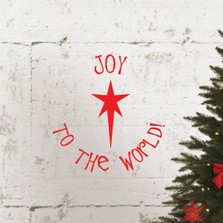 Joy To The World Christmas Star Holiday Quote Wall Decal Sticker #1338