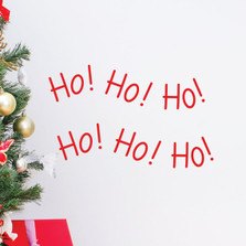 Ho Ho Ho Christmas Decor Wall Decal Santa Claus Quote Holiday  #1339