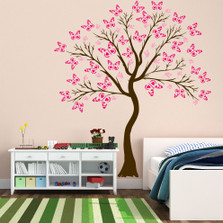 Large Wall Tree Baby Nursery Decal Butterfly Cherry Blossom #1374