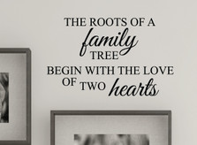 Family Tree Roots Love Wall Decal Quote #1383