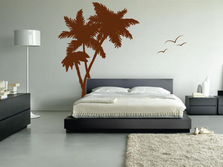 Palm Coconut Tree Wall Decal #1114
