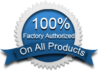 100% Factory Authorized on all products – Image