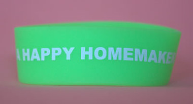 "I""M A HAPPY HOMEMAKER BRACELET - 1 inch wide"