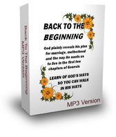 BACK TO THE BEGINNING - Downloadable MP3 Teaching