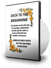 BACK TO THE BEGINNING - Teaching CD