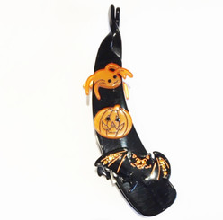 HALLOWEEN BANANA CLIP with crystals # 15846N